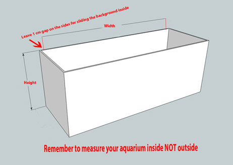 How to measure your aquarium before ordering 3d background